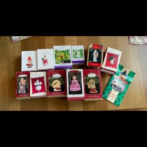 Lot of 11 collector Hallmark ornaments